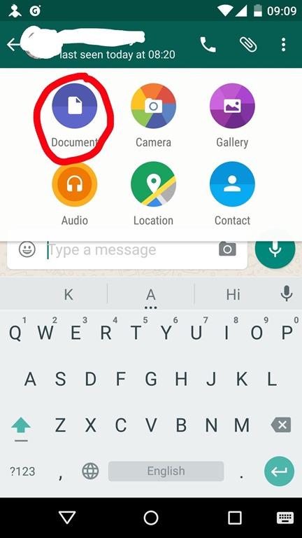 Whatsapp documents
