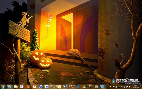 Windows 7 halloween theme