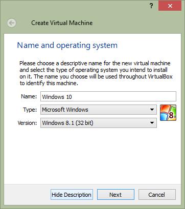 Windows 8.1 virtual