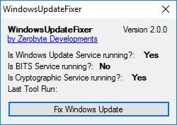 Windows update fixer