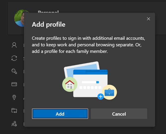 add profile menu