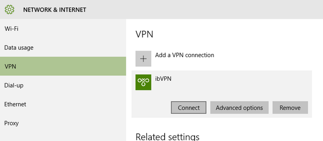 connect to VPN