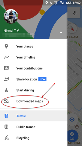 downloaded maps