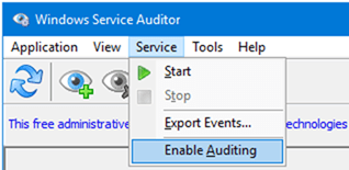 Audit Windows 10 Services