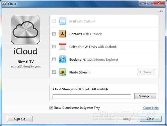 iCloud on Windows