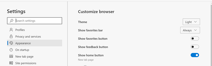 Dark Theme on Microsoft Edge Browser