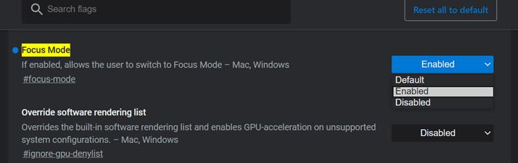 Enable Focus Mode On Microsoft Edge