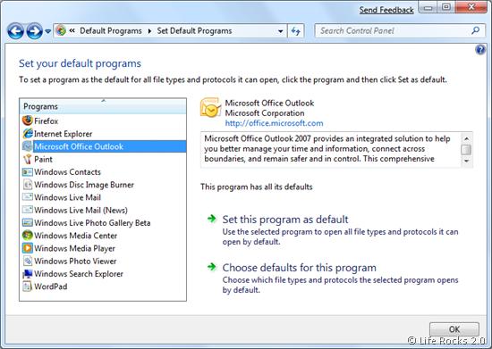 Default Program list