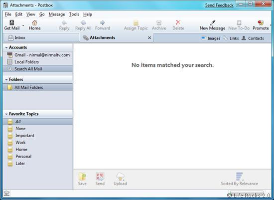 Postbox inbox