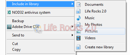 include folders to library