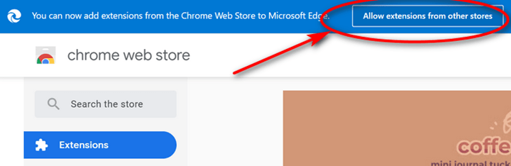 install chrome extension on Edge browser