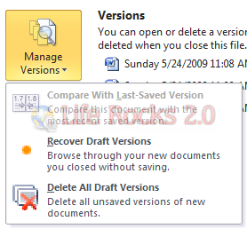 recover versions