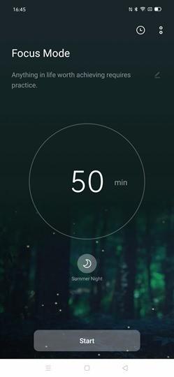 Focus Mode on ColorOS 7