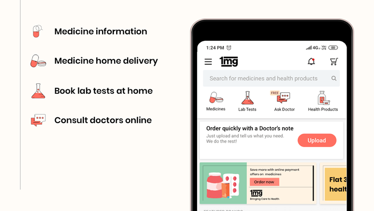 Android Apps to buy Medicines Online