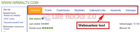 webmasters tool