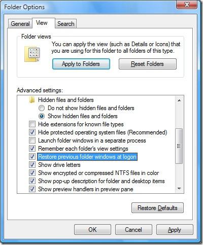 save folder view