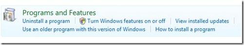 Program features