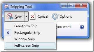 snipping tool option